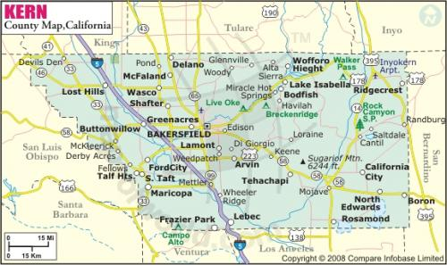 Bakersfield Home Inspectors Serving Bakersfield California - Map of california cities and towns